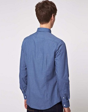 Image 2 ofASOS Slim Fit Shirt With Polka Dot