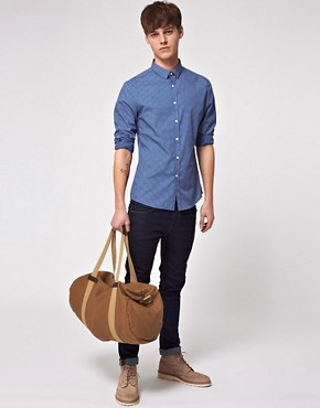 Image 4 ofASOS Slim Fit Shirt With Polka Dot