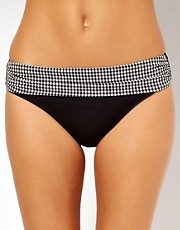 Pour Moi Check Mate Banded Bikini Brief