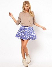 ASOS Skater Skirt in Paisley Print