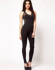 ASOS Unitard with Heart Panels