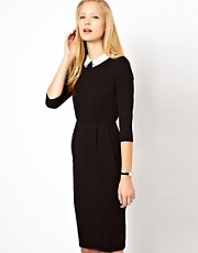 ASOS Tulip Dress With Collar Detail