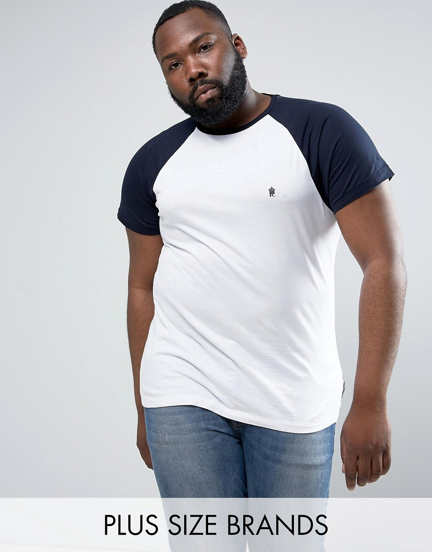 French Connection PLUS Contrast Raglan T-Shirt - White