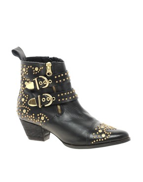 Image 1 ofRiver Island Saline Studded Boots