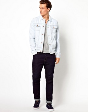 Image 1 ofASOS Denim Jacket With Bleach Wash