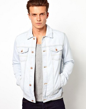 Image 2 ofASOS Denim Jacket With Bleach Wash