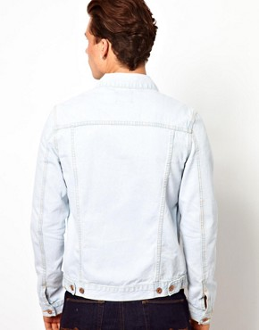 Image 3 ofASOS Denim Jacket With Bleach Wash