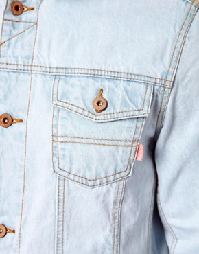 Image 4 ofASOS Denim Jacket With Bleach Wash