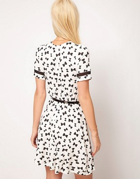 Image 2 ofASOS Skater Dress in Bow Print