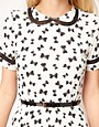 Image 3 ofASOS Skater Dress in Bow Print