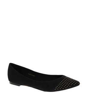 Image 1 ofASOS LILY Studded Point Ballet Flats