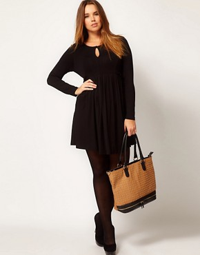 Image 4 ofASOS CURVE Dress with Ruffle