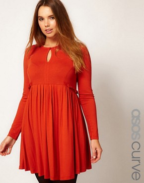 Image 1 ofASOS CURVE Dress with Ruffle