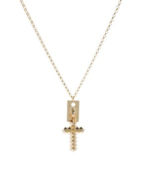 Image 1 ofASOS Pyramid Cross Necklace