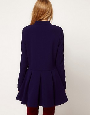Image 2 of ASOS Cute Bow Front Coat