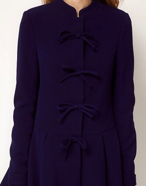 Image 3 of ASOS Cute Bow Front Coat