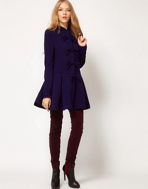 Image 4 of ASOS Cute Bow Front Coat