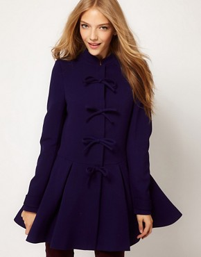 Image 1 of ASOS Cute Bow Front Coat