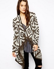 ASOS Blanket Cardigan With Fringe Detail