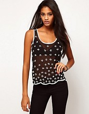Lipsy Beaded Daisy Top
