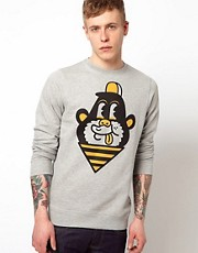 Supremebeing Crew Sweatshirt Print Monkey