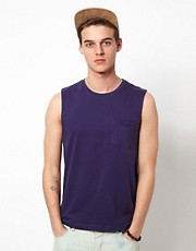 ASOS Sleeveless T-Shirt With Pocket