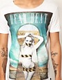 Immagine 3 di Sin Star - T-shirt con scollo rotondo e scritta &quot;Dead Beat&quot;