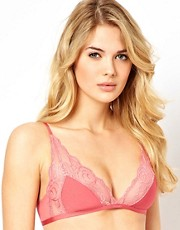 Calvin Klein - Honeysuckle - Reggiseno a triangolo con pizzo a rose