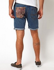 ASOS Denim Shorts With Contrast Pocket