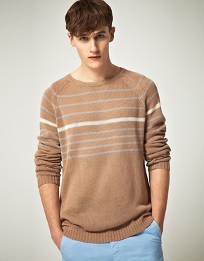 Image 1 ofPlectrum by Ben Sherman Relaxed Crew Neck Knit