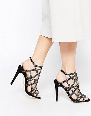 Lipsy Casey Embellished Caged Heeled Sandals