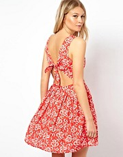 Oasis Lace Flower Cut Out Back Sundress