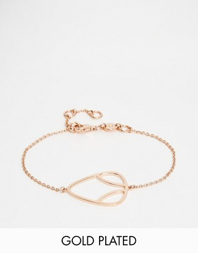 Daisy London Laura Whitmore Rose Gold Charm Bracelet