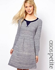 ASOS PETITE Exclusive Textured Knitted Skater Dress