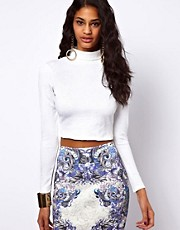 ASOS Crop Top in Embossed Texture