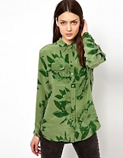 Equipment Signature Silk Shirt in Hawaii Khaki