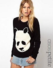 ASOS PETITE Panda Jumper