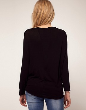 Image 2 ofASOS Maternity Exclusive Top With Drape Front