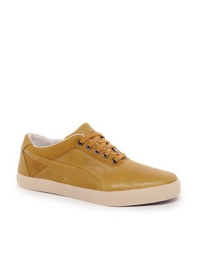 Image 1 ofAlexander McQueen for Puma Deck Lo Leather Trainers