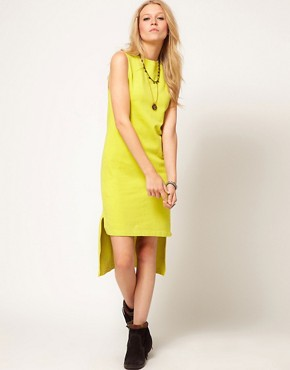 Image 4 of ASOS Sweatshirt Dress with Dipped Hem