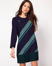 Whistles Mosaic Stripe Dress