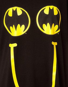 Image 3 ofLazy Oaf x Batman Exclusive Oversized T-Shirt In Happy Bat Print