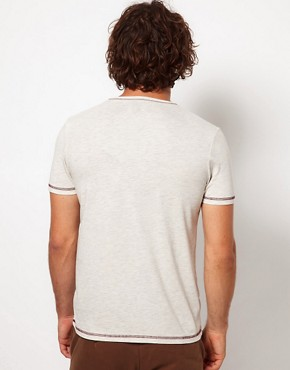 Image 2 ofASOS T-Shirt With Contrast Pocket And Stitching