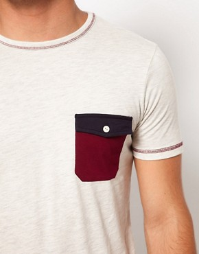 Image 3 ofASOS T-Shirt With Contrast Pocket And Stitching