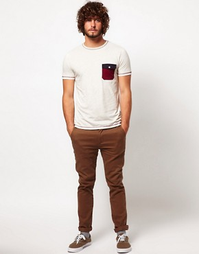 Image 4 ofASOS T-Shirt With Contrast Pocket And Stitching
