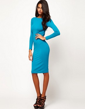 Image 4 ofASOS Midi Dress With Lace Cross Back