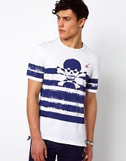 Vivienne Westwood Anglomania for Lee T-Shirt Printed Stripe Skull