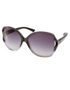 Image 1 ofM By Missoni Large Lens Sunglasses With Stripe Arm