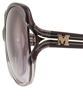Image 4 ofM By Missoni Large Lens Sunglasses With Stripe Arm