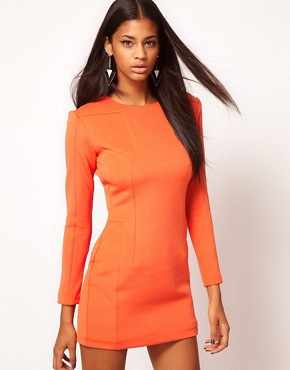 Image 1 ofAqua Cross Long Sleeve Panelled Dress